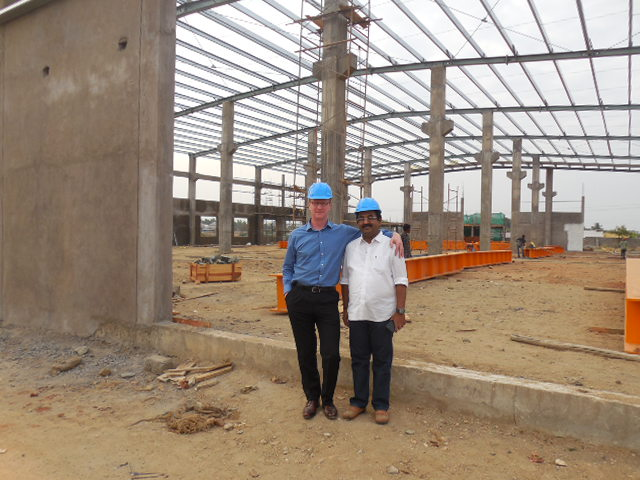 Image of build progress at our Indian Factory