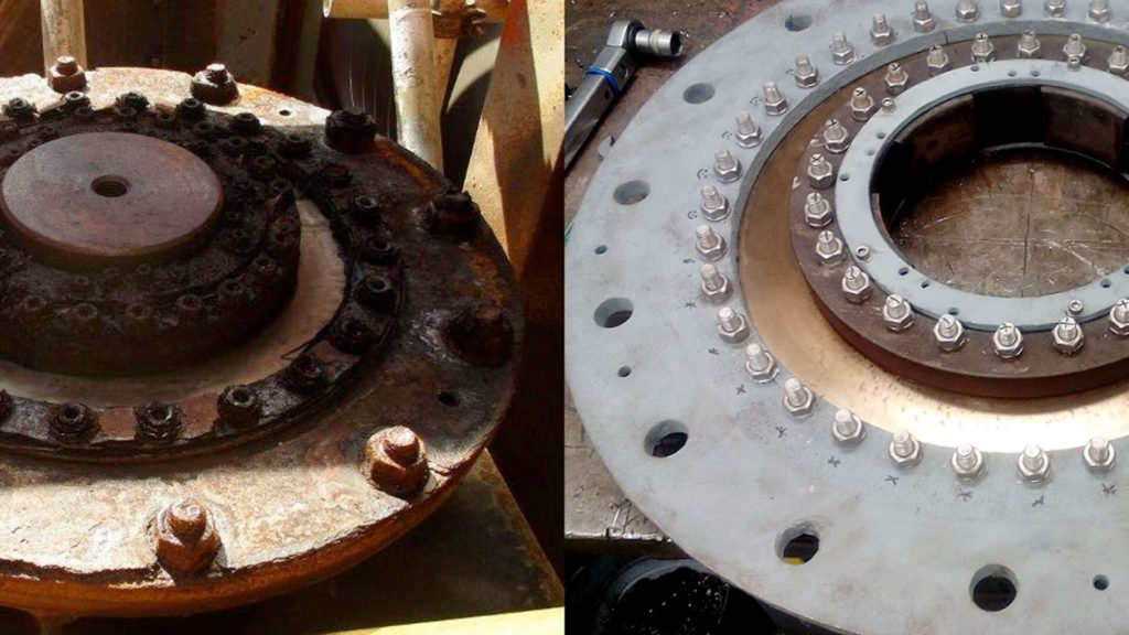 Before and afrer bearing